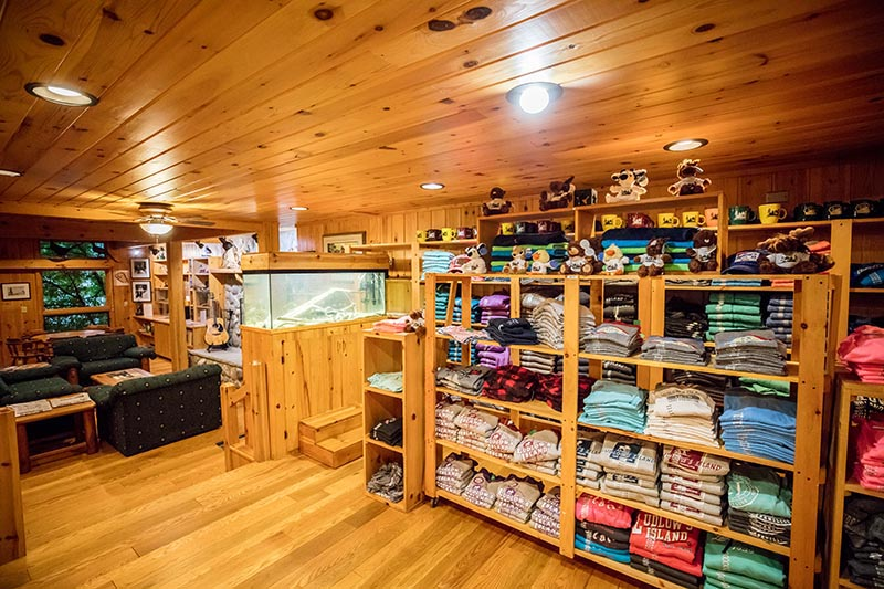 lodge gift shop.