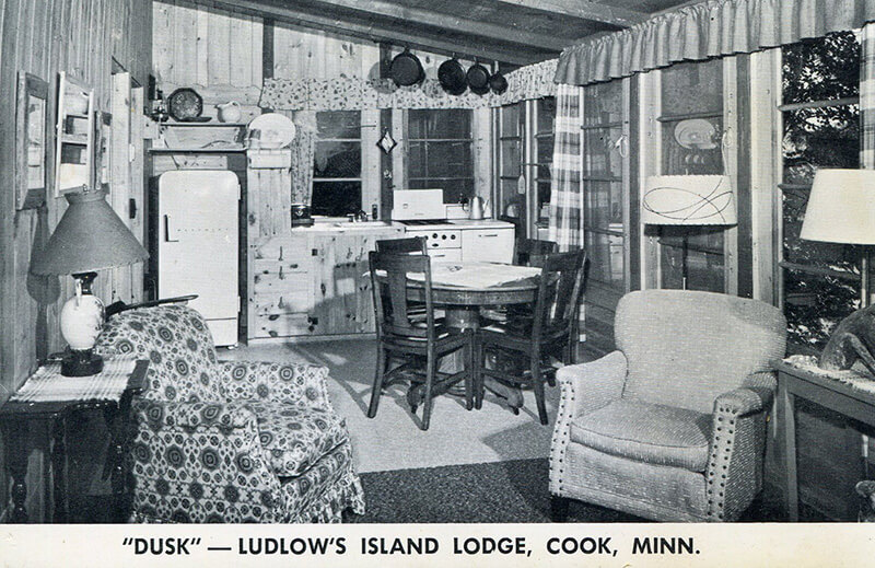 Old Dusk cabin interior.