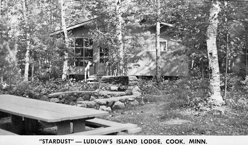 Old Stardust cabin exterior.