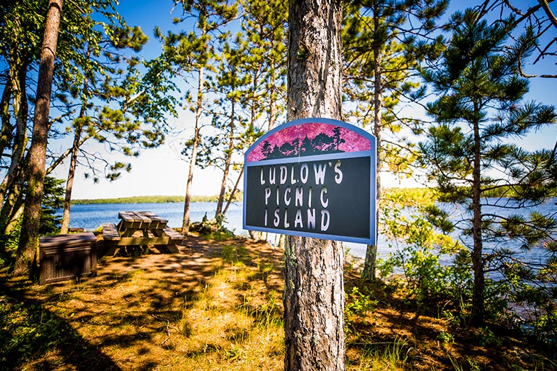 text: ludlows picnic island.